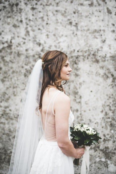 semiraccolto morbido sposa